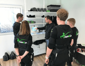 Angehende EMS-Trainer bei der Trainerschulung